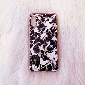 Casetify iPhone X Floral Geometric Impact Case